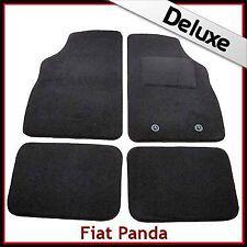 FIAT PANDA Mk2 2003-2012 1300 G DI LUSSO SU MISURA TAPPETINI AUTO MOQUETTE NERA