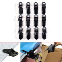 12pcs awning clamp tarp clips snap hangers tent camping survival tighten tool ME