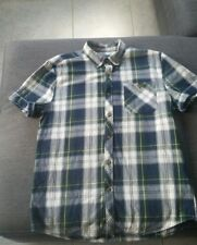 TOPMAN Men's Tartan CHECKED Short Sleeved Shirt Size M excellent condition