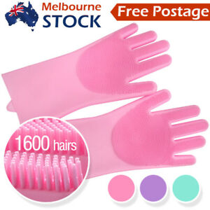 Magic Silicone Rubber Dish Washing Gloves Scrubber Cleaning Sponge Kitchen Tools