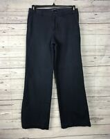 GAP Women's Navy Blue Wide Leg Career Stretch Flat Front Pants Size 6R