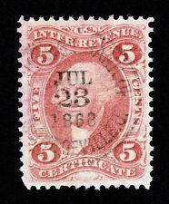 "U.S. REVENUE SCOTT #R24C ""CERTIFICATE"" EXCHANGE BANK MONROEVILLE OHIO SON 1868"