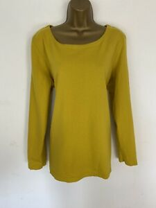 Joules Top Yellow Gold 100% Cotton Harbour Long Sleeve UK 20
