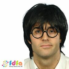 HARRY POTTER SCHOOLBOY WIG & GLASSES - mens fancy dress wig costume