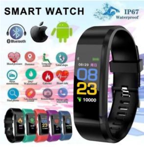 Smart Fitness Tracker Activity Running Bluetooth Sport Watch Bracelet Heart-Rate