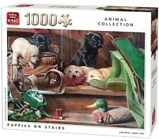 1000 Piece Animal Collection Jigsaw Puzzle - PUPPIES DOGS ON THE STAIRS 05379