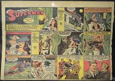 SUPERMAN SUNDAY COMIC STRIP #44 Sept 8, 1940 2/3 FULL Page DC Comics RARE