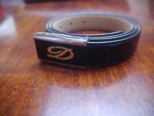 "S.T. DuPont Paris Mens Leather Belt Luxurious Brand New Size 32""- 36"" RRP US$579"