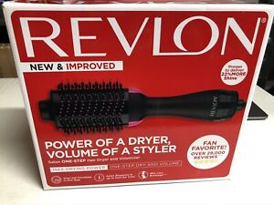 REVLON One-Step Hair Dryer And Volumizer Hot Air Brush, Black