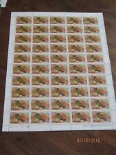 Antigua and Barbuda  Feuille de 50 timbres ** 1/2 cents crested hummingbird 1976