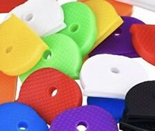 10x COLOUR KEY CAP CAPS TOP COVERS TAGS ID MARKERS KEYRING MIXED COLOURS CAPS