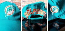 Vintage 90s Miami Dolphins Snapback Hat Vtg Classic, Spelt out Dolphins on back!