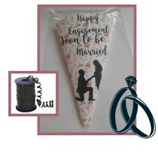 10 x engagement party  DIY/party bags/sweet cones/kit/supplies