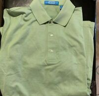 Carnoustie Mens Polo Style Shirt SS Green Cotton Size MM