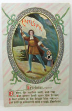 POSTCARD Excelsior, Oh stay the maiden said, and rest; Embossed; Philco