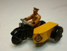 DINKY TOYS 44B MOTORCYCLE ANWB DUTCH - YELLOW + BLACK 1:43? - GOOD CONDITION