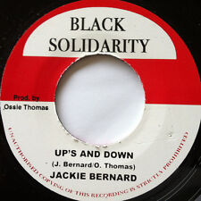 "Jackie Bernard ‎– Up's And Down UK 7"" ROOTS MINT Black Solidarity ‎DUB"