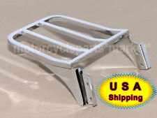 Chrome Backrest Sissy Bar Luggage Rack For Harley Sportster XL Dyna Softail USA