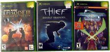 Lot of 3, Thief Deadly Shadows, Star Wars Episode III, Phantasy Star, Xbox Games