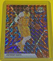 2019-20 Panini Mosaic Anthony Davis REACTIVE BLUE PRIZM Lakers #18 SP CHAMP 🔥