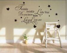 Twinkle Twinkle Little Star de arte de pared calcomanía citar calcomanía Kids Niños Decoración del Reino Unido