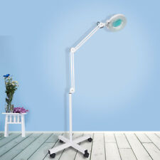 Sanqiao Magnifier Clip Floor Stand Lamp Glass Salon SPA Beauty Diopter White