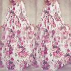 Zanzea Vintage Lady Boho Floral Print Party Evening Cocktail Maxi Long Dresses