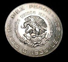 Mexico 10 Pesos 1956  28.888 Grams UNC 90% Silver Libertad