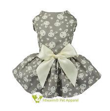 "Fitwarm 10""Chest Cute Bunny Dog Dress Xsmall Pet Clothes Shirt Party Cat Vest"