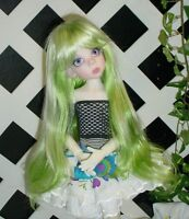 """Doll Wig, Monique Gold Adorabel """"Pixie"""" Size 6/7 in Green (with bangs)"""