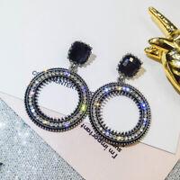 Women Earrings Rhinestone Dangle Drop Ear Stud Earring Fashion Jewelry Gift