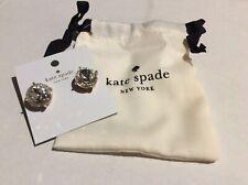 Kate Spade Large Gumdrop Clear Stud Cocktail Earrings