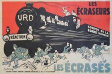 """""""URD/ LES ECRASEURS - LES ECRASES"""" Affiche originale entoilée Litho DUKERCY 1932"""