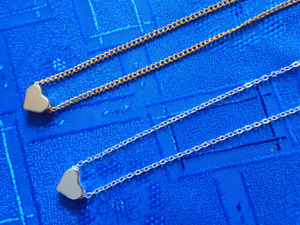 Heart Pendant Gold Silver Plated Chain Necklace Elegant Free Gift Bag UK