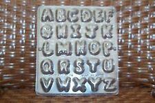 NEW 26 Cavity Tuft ALPHABET Letter Chocolate Candy Fondant Clay Plaster Mold