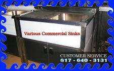Various Commercial Sinks (1,2,3 Compartments New/used)