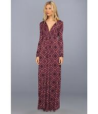 Rachel Pally Long Sleeve Caftan Maxi Dress - Sz XS 'Pinot Deco' Gorgeous Style