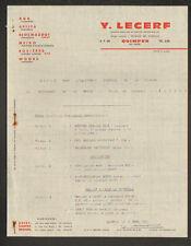 """QUIMPER (29) MATERIEL & MACHINES pour RESTAURANT & CUISINE """"Y. LECERF"""" en 1966"""