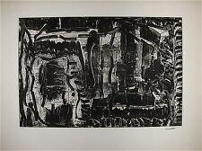 Jean-Paul Riopelle gravure originale signée 1976 Art Abstrait Quebec Montréal