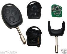 ZV Fernbedienung Funkschlüssel mit Rohling für Ford + 4D60 Wegfahrsperre Chip