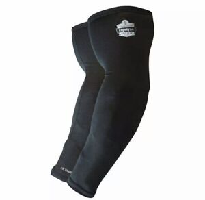 CHILL-ITS BY ERGODYNE 6690 Cooling Sleeves,Black,Size M SPF 50+
