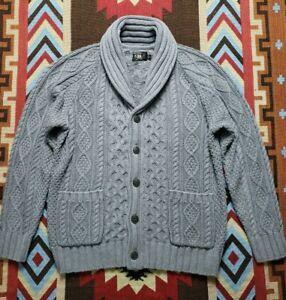 Double RL RRL Ralph Lauren Indigo Shawl Cardigan Sweater