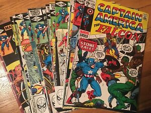 MARVEL COMICS CAPTAIN AMERICA 14 ISSUES ALL VG+ CONDITION