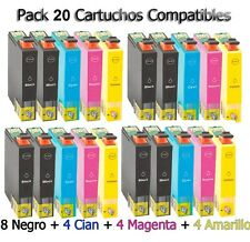 20 XL tinta cartuchos para Epson xp33 xp225 xp313 xp322 xp325 xp413 xp422 xp425