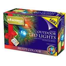 600 LED Static Christmas Lights Multi Coloured