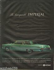 1963 Chrysler Imperial Crown Coupe Auto  Original Vintage Print Ad