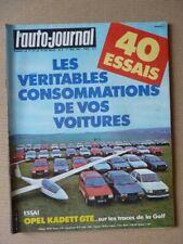Auto-Journal n°08-83, Opel Kadett GTE, Zender, 40 essais conso, Ren Am, Abbate 3