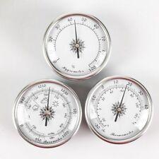 3 Devices Barometer Hygrometer Temperature Weather Station Gauges Finish Dial