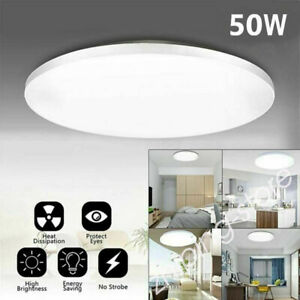 50W Bright LED Ceiling Down Cool White Light Panel Wall Kitchen Bathroom Lamp ZE