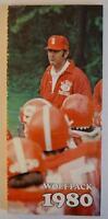 Vintage Football Media Press Guide North Carolina State University 1980
